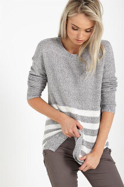 Archy 3 Pullover, SLATE TWIST / WHITE STRIPE