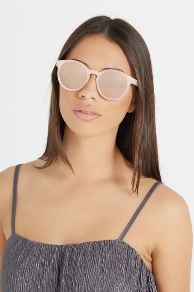 Rollin Round Sunglasses, MILKY PINK/ROSE