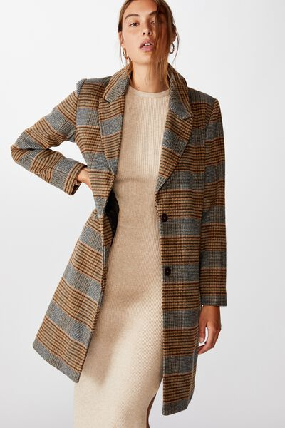 The Coat, BROWN CHECK