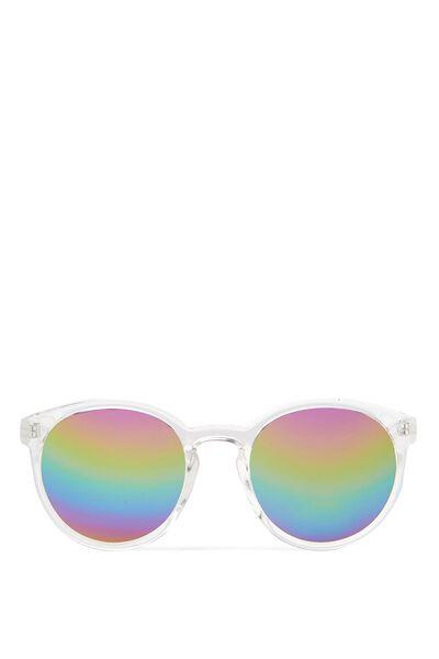 Rollin Round Sunglasses, CLEAR/RAINBOW