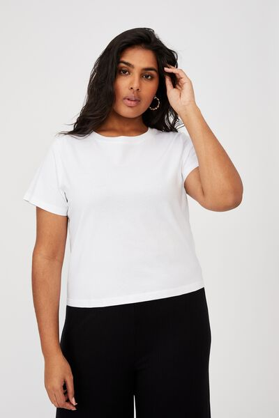 Curve The One Baby Tee, WHITE