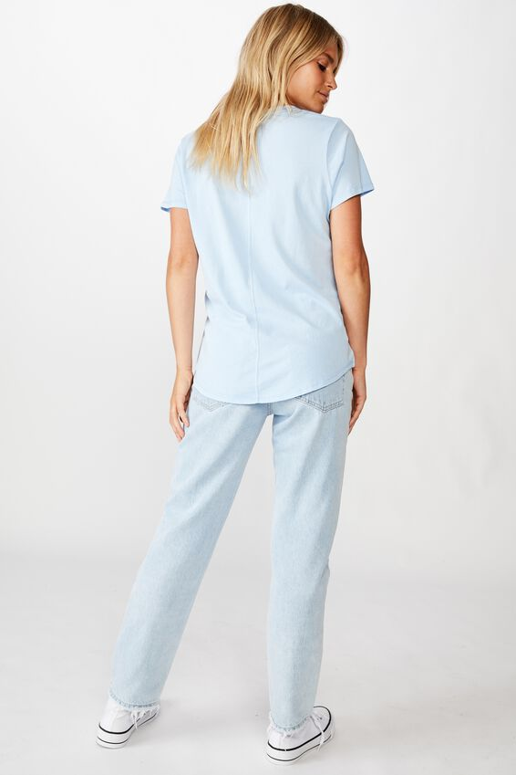 The One Scoop Tee, WASHED CERULEAN