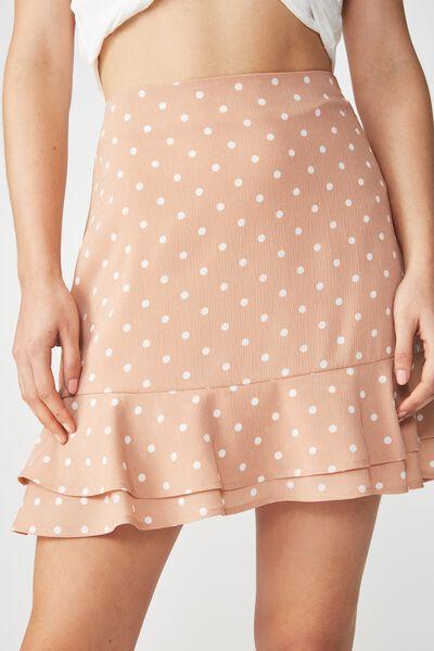 Woven Alana Mini Skirt, LENNY SPOT TUSCANY