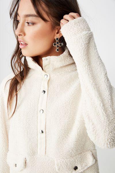Blair Button Up Polar Fleece, EGGNOG