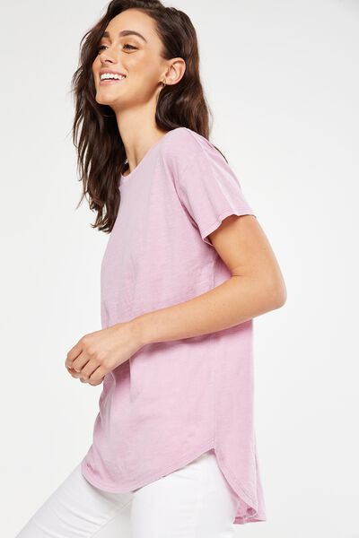 The One Boyfriend Crew Tee, WASHED ORCHID HAZE