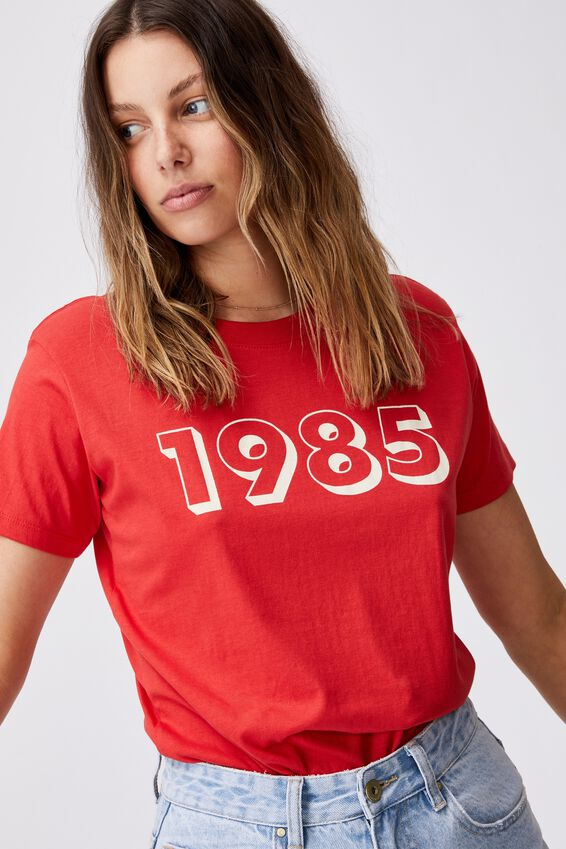 Classic Cny Graphic T Shirt, 1985/LUCKY RED