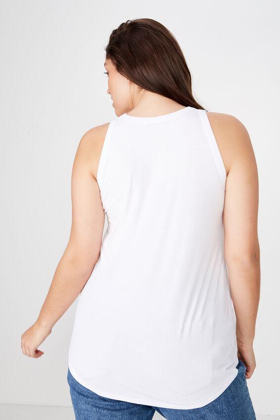 Curve Girlfriend Tank, WHITE