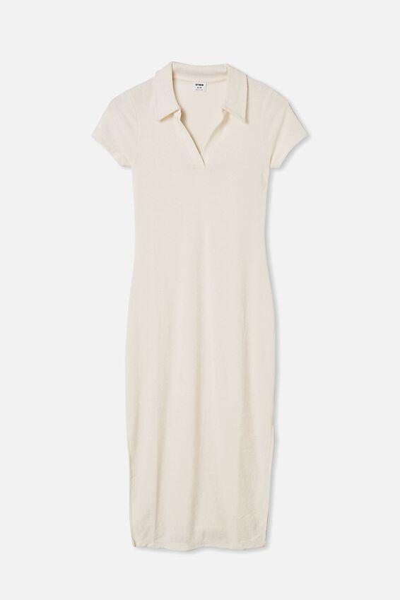 Tori Polo Midi Dress, SEA SHELL WHITE
