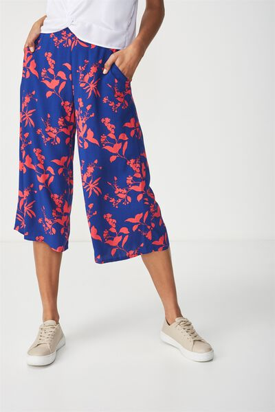 Mid Rise Drapey Culotte Pant, SOPHIE SHADOW SURF THE WEB
