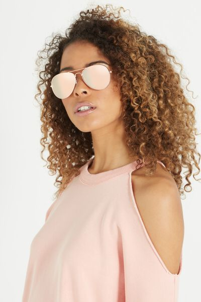 Belle Sunglasses, ROSE/ROSE GOLD