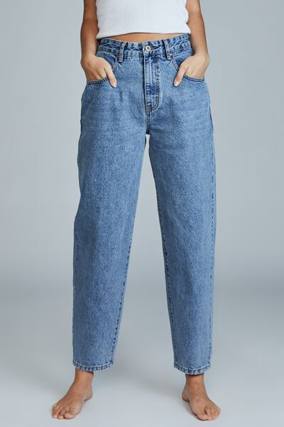Slouch Mom Jean, BRUNSWICK BLUE