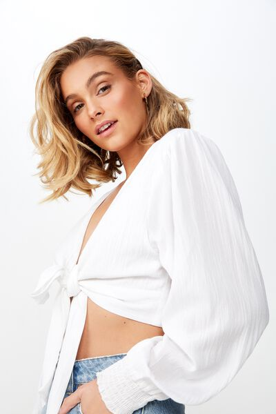 Francesca Ls Top, WHITE