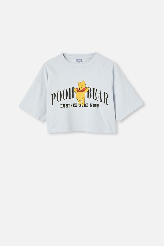 Chopped Boyfriend Lcn Tee, LCN DIS POOH BEAR WOODS/COOL BLUE