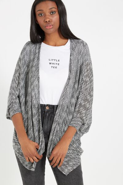 Ot Lila Short Cardigan, SALT & PEPPER TWIST