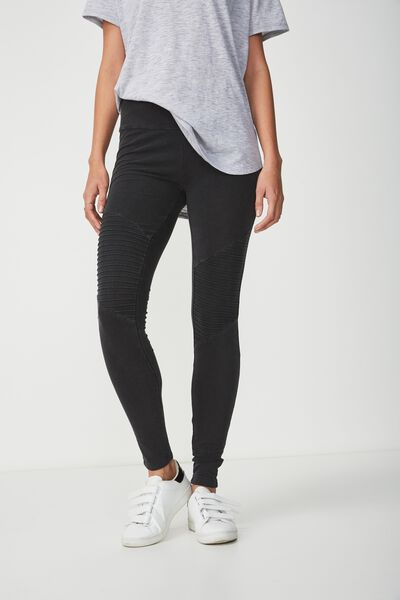 Dakota Detail Legging, NEW WASHED BLACK