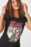 ACDC Premium T Shirt, LCN ACDC HIGHWAY SEQUIN/BLACK