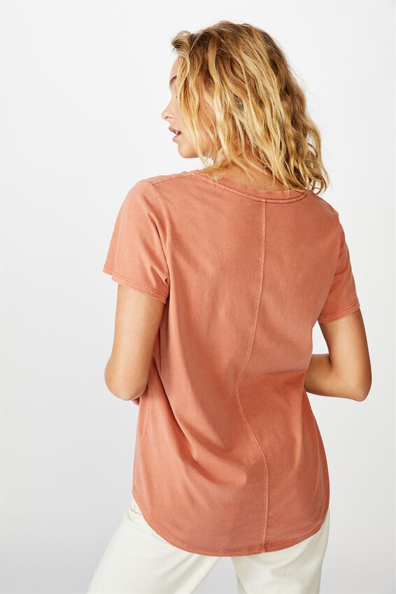 The One Scoop Tee, WASHED DUSTY BROWN