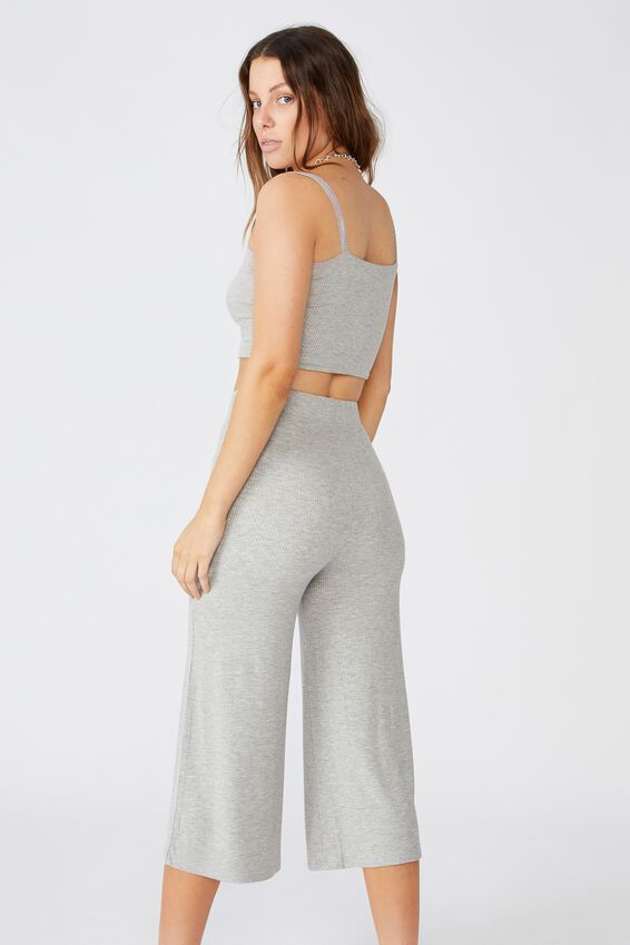 Piper Knit Rib Pant, GREY MARLE