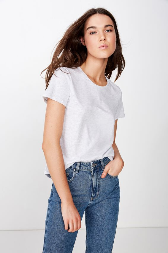 The Crew T Shirt, SILVER MARLE