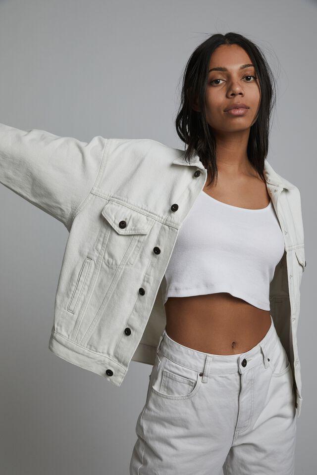 The Oversized Denim Jacket, WHITE HAVEN