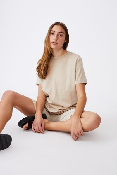 The Oversized Dad Tee, WASHED LATTE