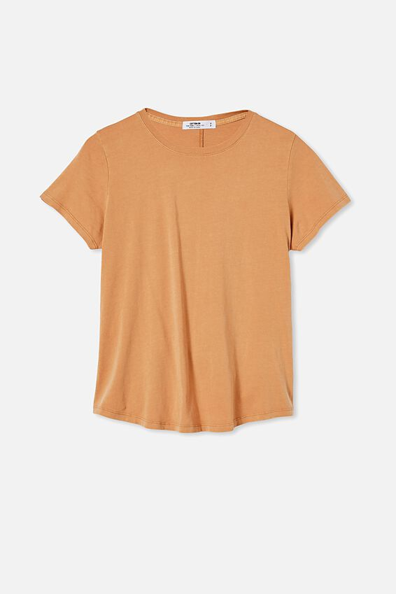 The One Crew Tee, WASHED SUMMER SAND