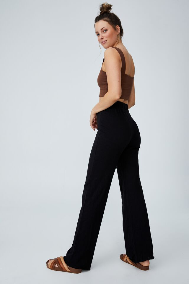 April Wide Leg Pant, BLACK