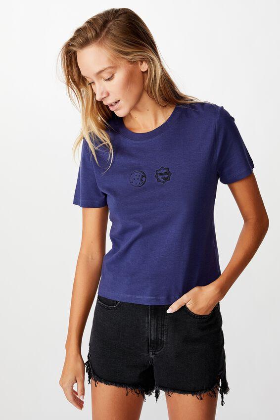 Essential Art T Shirt, SUN AND MOON/INDIGO