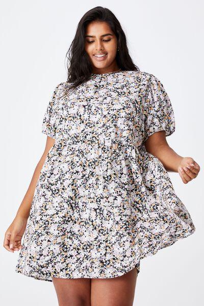 Curve Lucy Mini Dress, DIANE FLORAL BLACK