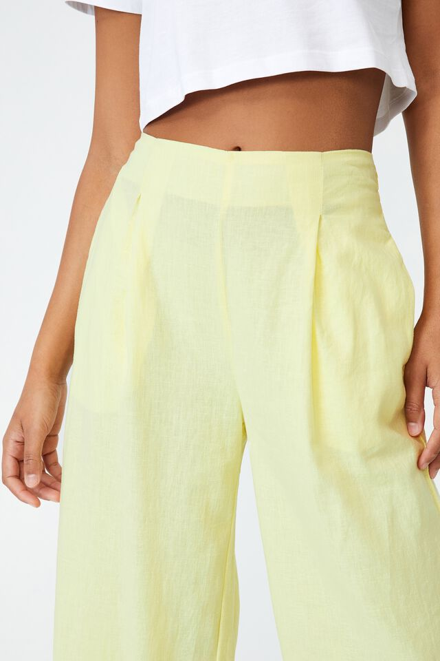 Wide Leg Paradise Pant, ICY YELLOW