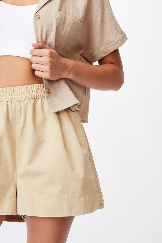 Eve Twill Short, LINEN TAUPE