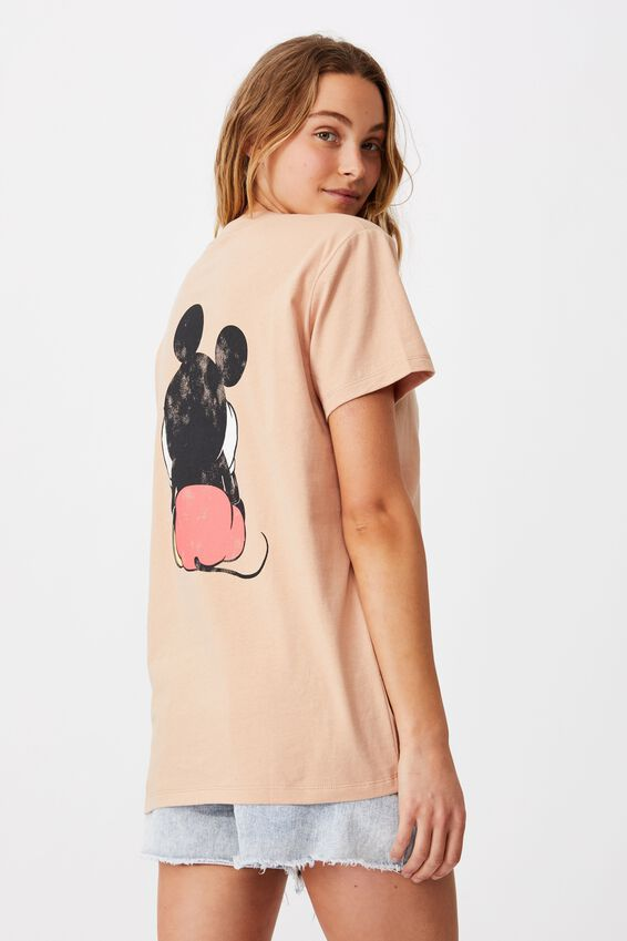Classic Mickey Front & Back T Shirt, LCN DIS MICKEY FRONT AND BACK/BRUSH