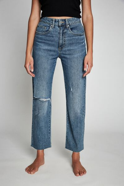 Straight Stretch Jean, BRONTE BLUE RIPS