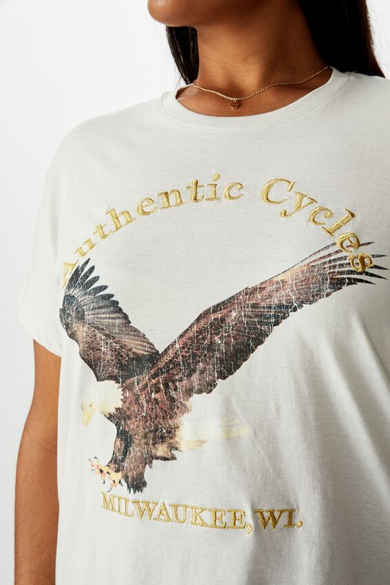 Curve Graphic Tee, AUTHENTIC CYCLES/VAPOROUS GREY