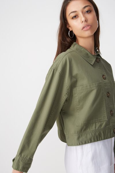 Eloise Eisenhower Jacket, SOFT KHAKI