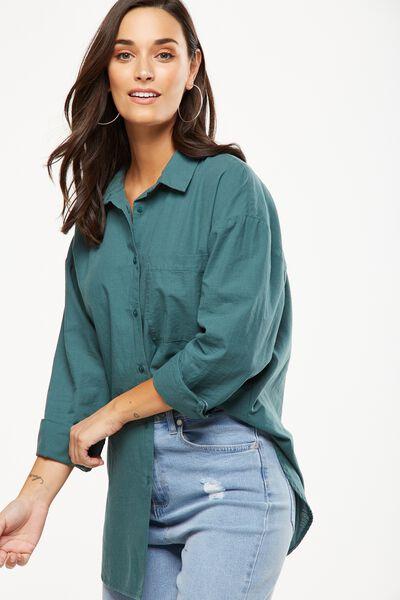 Monique Shirt, PINE GREEN