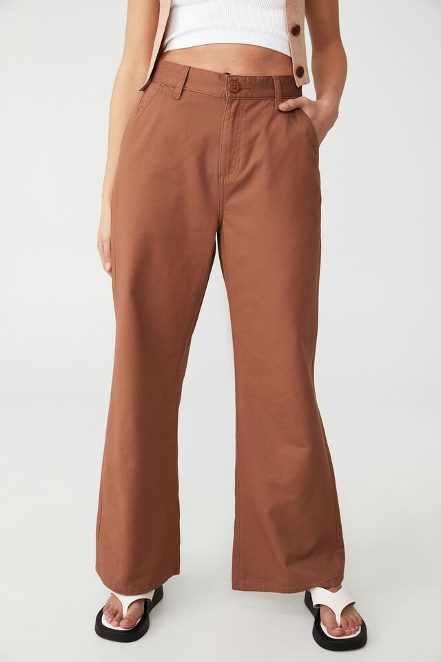 Petite Parker Long Straight Pant, COCOA BEAN