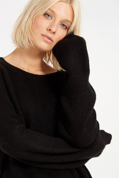 Tania Blouson Tunic, BLACK