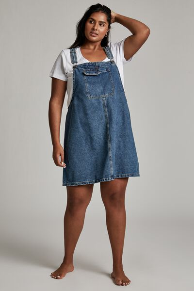 Curve Utility Denim Pinafore, COOGEE BLUE