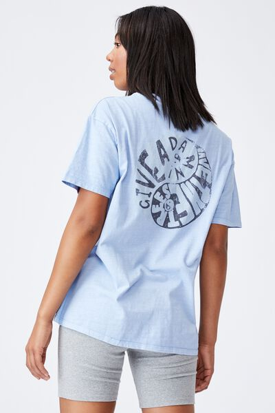 The Original Graphic Tee, GIVE A DAMN/DUSK BLUE