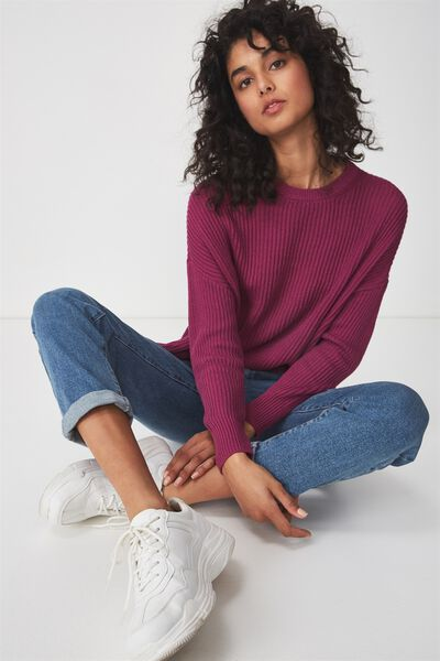 Archy Cropped Pullover, CLOVER