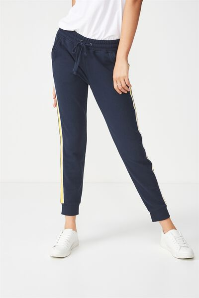 Adele Trackpant, MOONLIGHT/BUTTERCUP/WHITE PIPE