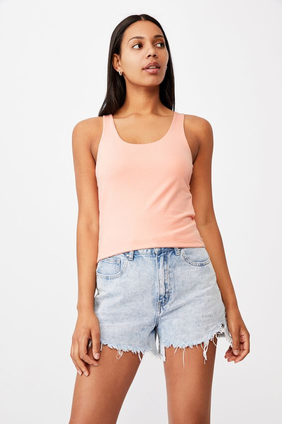 Everyday Cropped Scoop Tank, LUSH GREEN