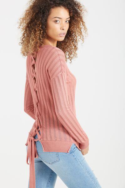 Sabrina Corset Fashion Pullover, BLUSH