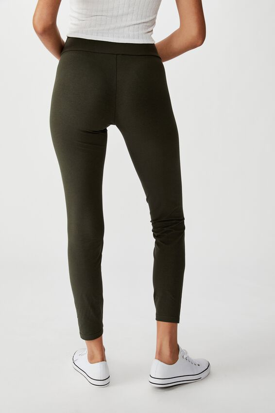 High Waisted Dylan Legging, JUNGLE GREEN