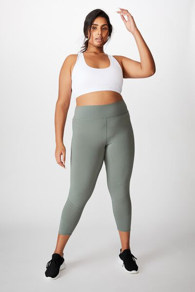Curve Lifestyle 7/8 Tight, OIL GREEN LASER