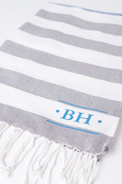 Tolve Turkish Towel, RUGBY STRIPE