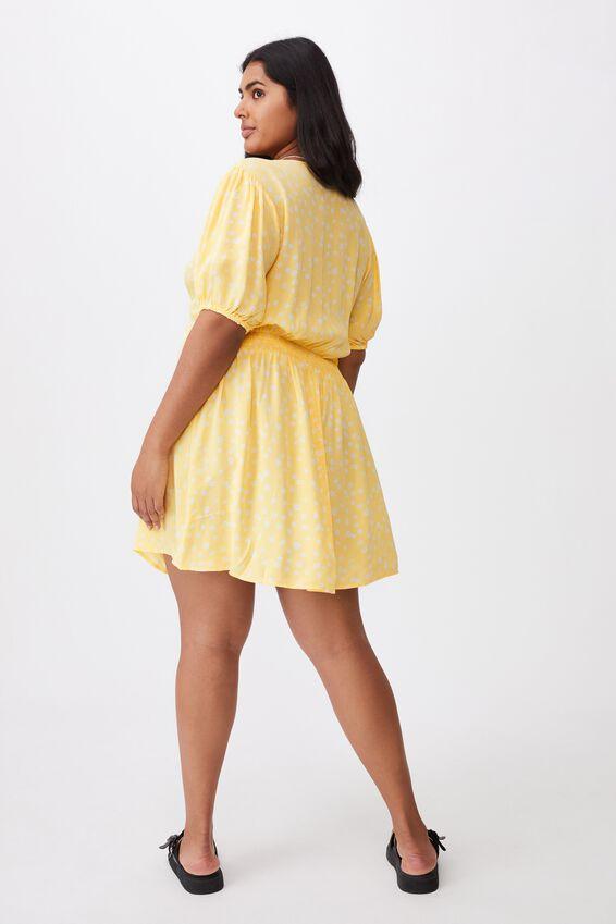 Curve Woven Miranda Mini Tea Dress, STELLA DAISY CALI YELLOW