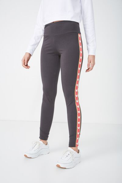 Tranquil Legging, LCN MICKEY SPORTS TAPE SLATE GREY