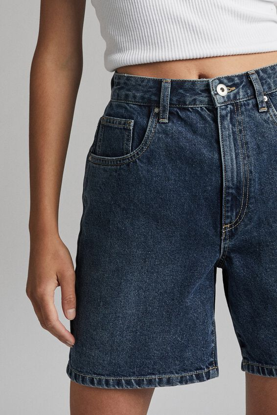Straight Denim Bermuda Short, SOUTHSIDE BLUE